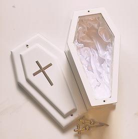 Trumienka dziecięca, trumienka na płód skrzypce dł.wew. 20 cm