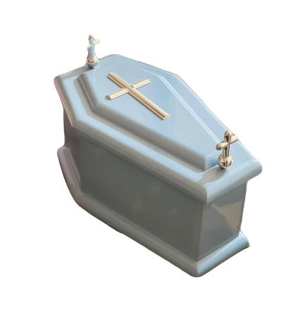 Niebieska trumienka dziecięca, trumienka urna na płód skrzypce dł.wew. 20 cm (1)