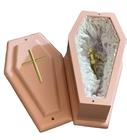 Różowa trumienka dziecięca, różowa trumienka urna na płód skrzypce dł.wew. 20 cm (2)
